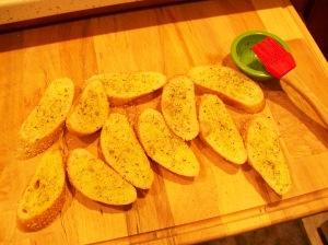 Sesame Garlic Toast making